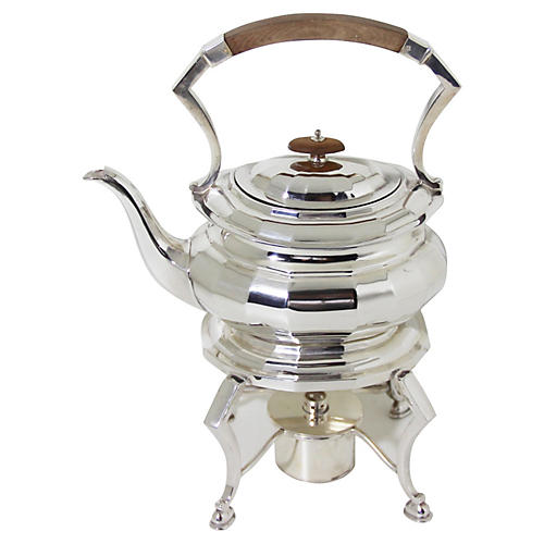 English Kettle on Stand, C. 1885