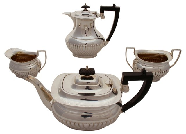 Tea & Coffee Set, C. 1890, 4 Pcs