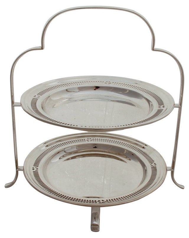 English 2-Tier Cake Stand, C. 1885