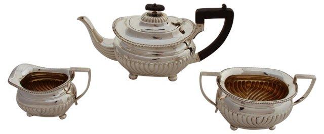 English Tea Set, C. 1875,   3 Pcs