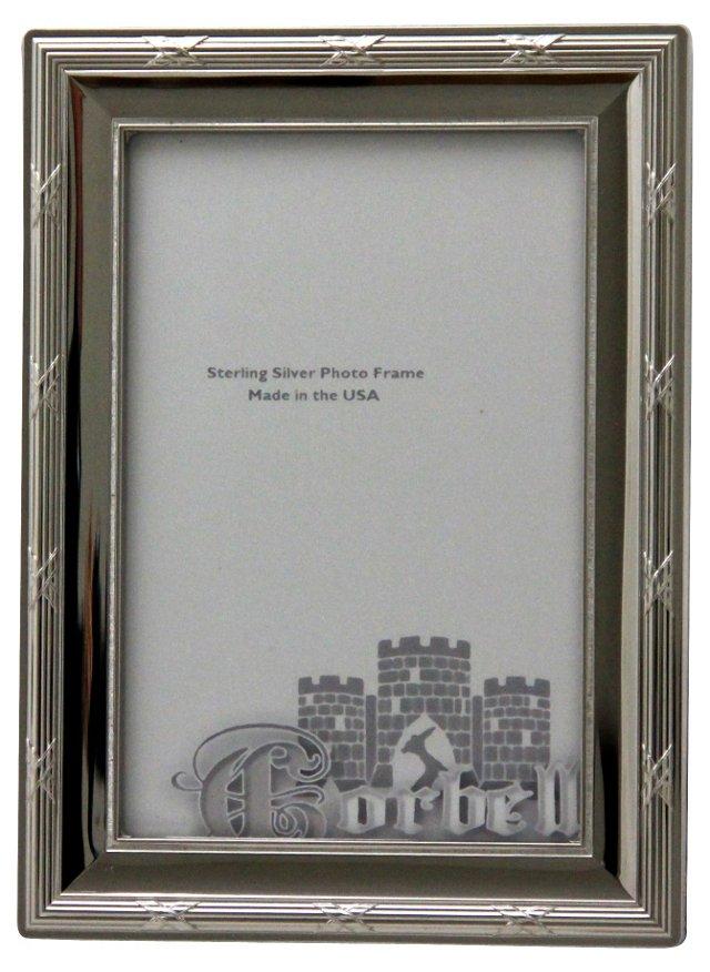 """Platinum & Wood Frame, 4"""" x 6"""""""