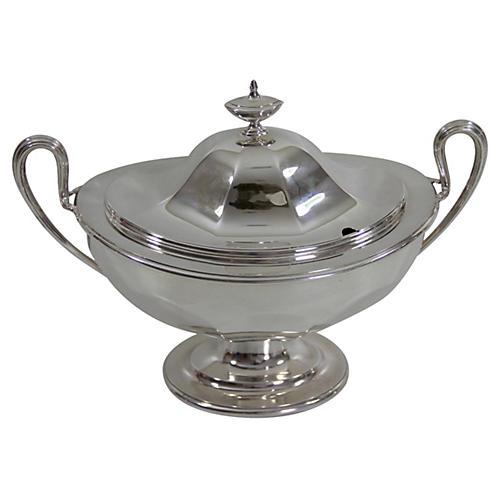 English Silver-Plate Soup Tureen, C.1860