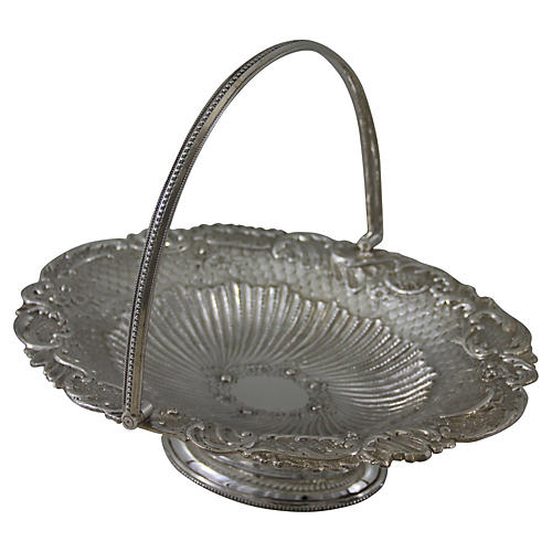 Oval Basket Chased & Fluted, 1881