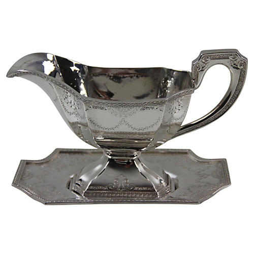 American Sauce Boat on Tray, C. 1900