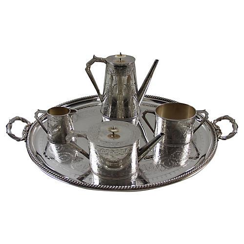 C. 1870 Tea & Coffee Set, 5 Pcs
