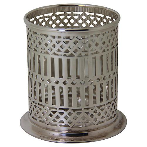 Silver-Plate Bottle Holder