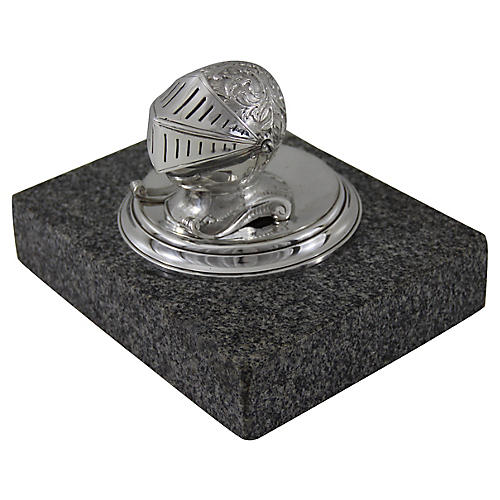 Armor Helmet Ink Stand on Granite, 1875