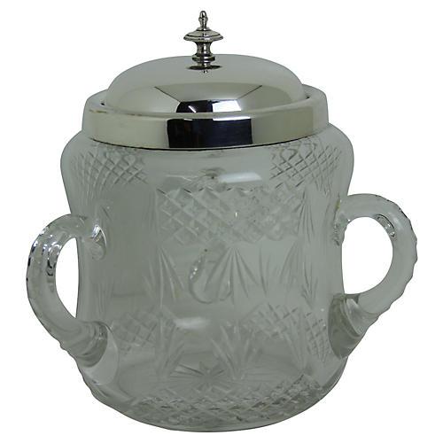English Biscuit Jar, C.1885