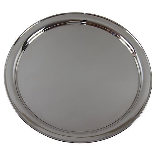 Round Hotel Silver Salver