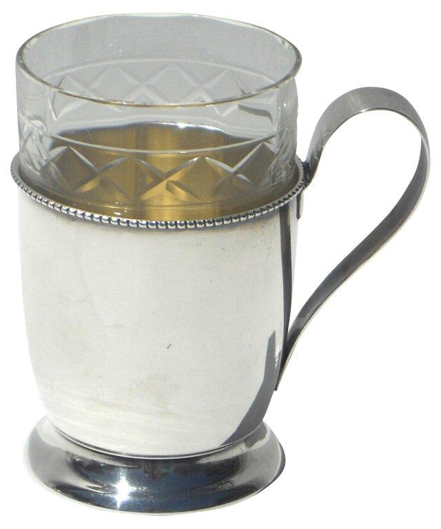 Silverplate Lemon Tea Holder, C. 1895