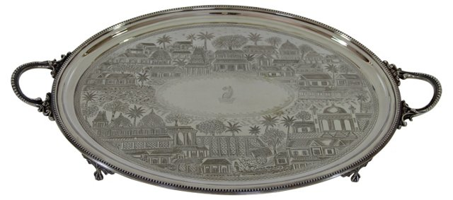 Hand-Engraved Tray, C. 1860