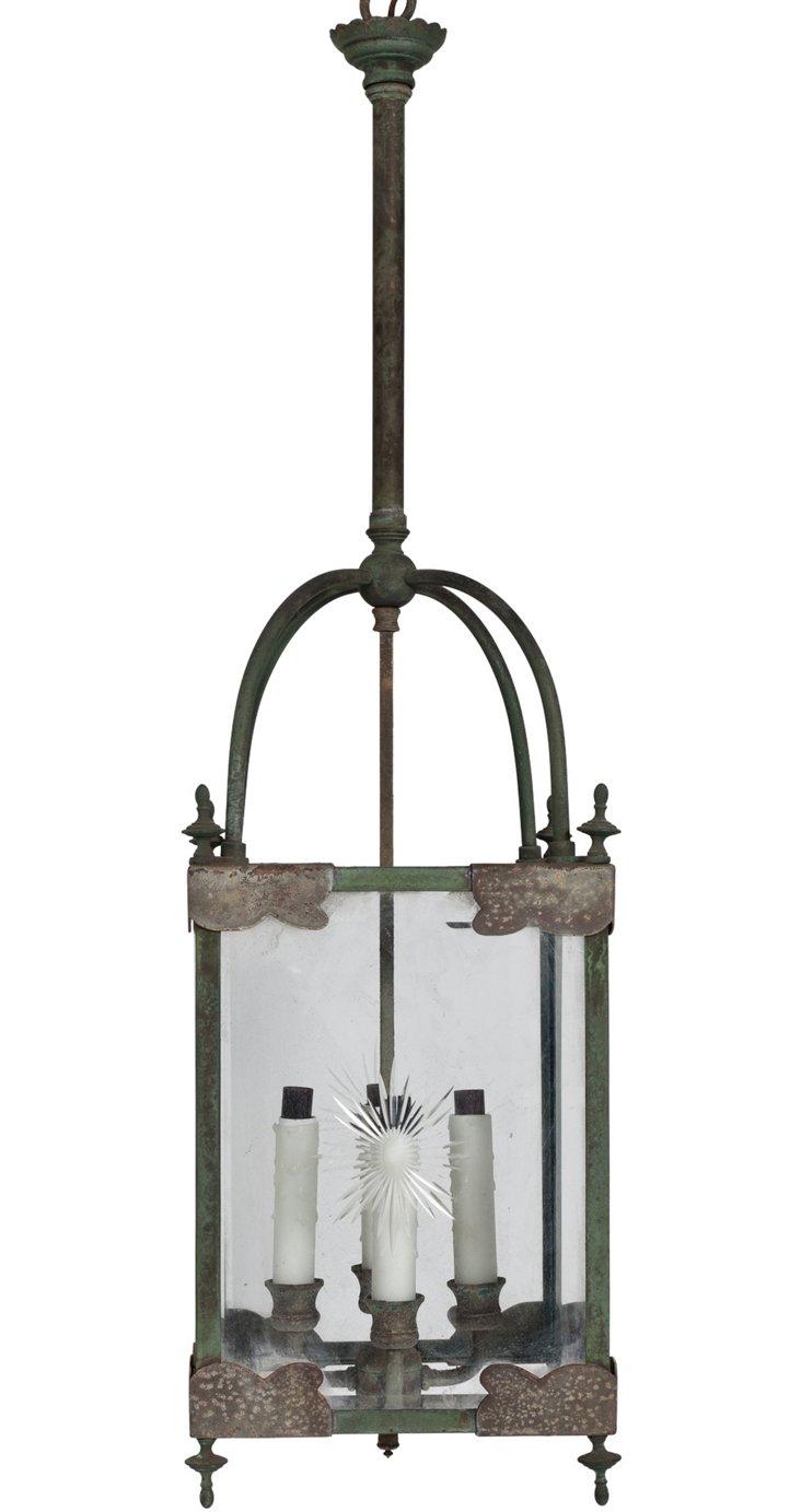 Verdigris Metal Hanging Lantern
