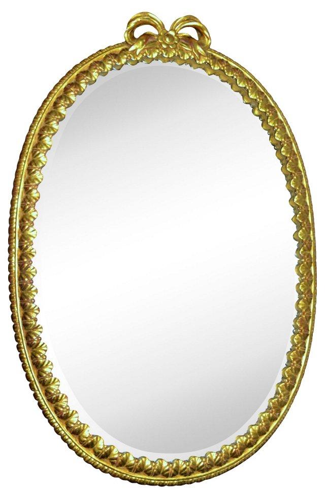 Gilt Mirror w/ Bow