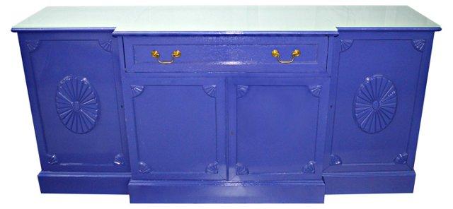 1940s Purple Drop-Front Buffet