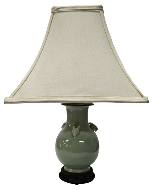 Chinese Celadon Table Lamp