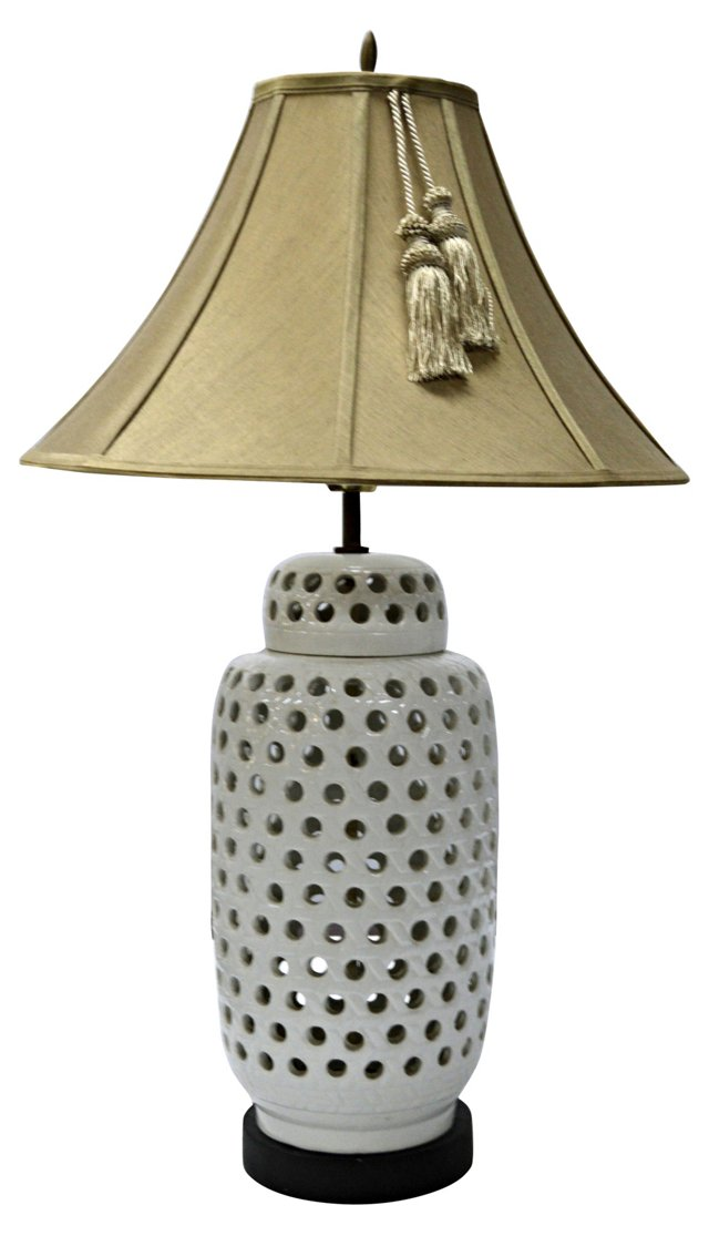 Perforated Porcelain Lamp
