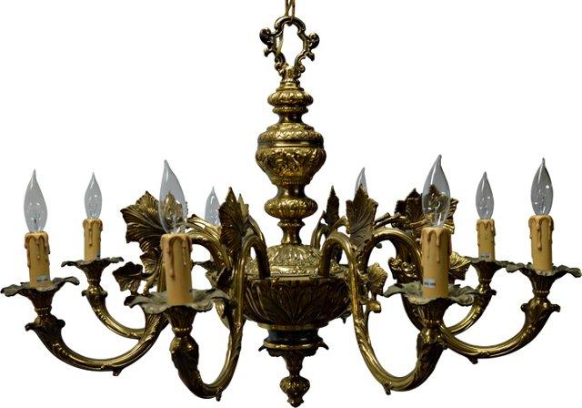 Brass Grapevine Chandelier