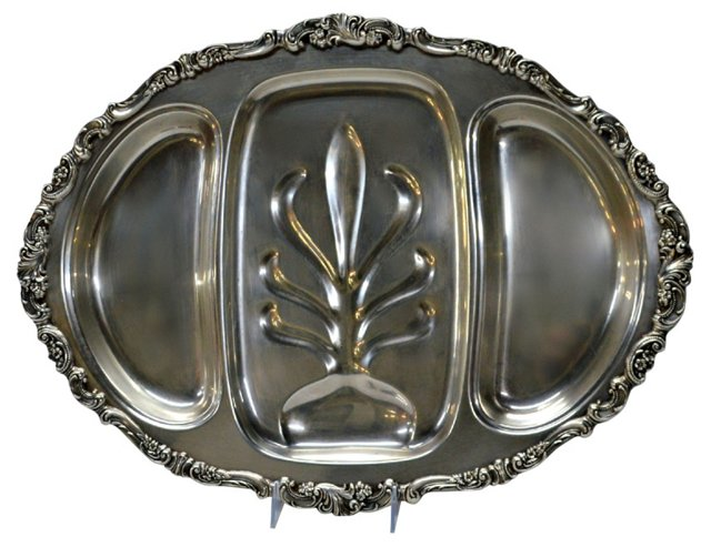 Silverplate Meat Tray