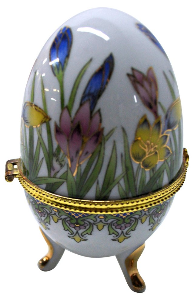 Russian Porcelain Egg Box
