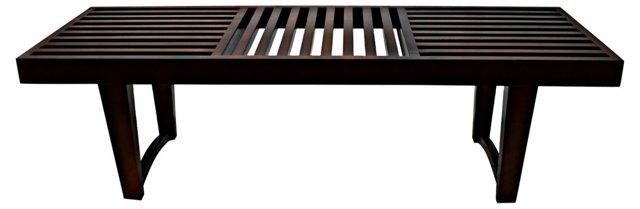 Midcentury Wood   Bench