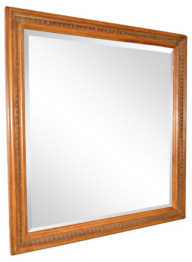 Square Wooden Mirror