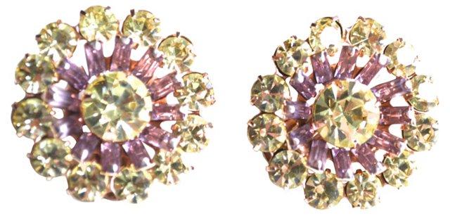 1950s Glam Floral-Burst Earrings