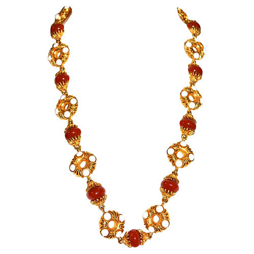 1970s Kenneth Jay Lane Sienna Necklace