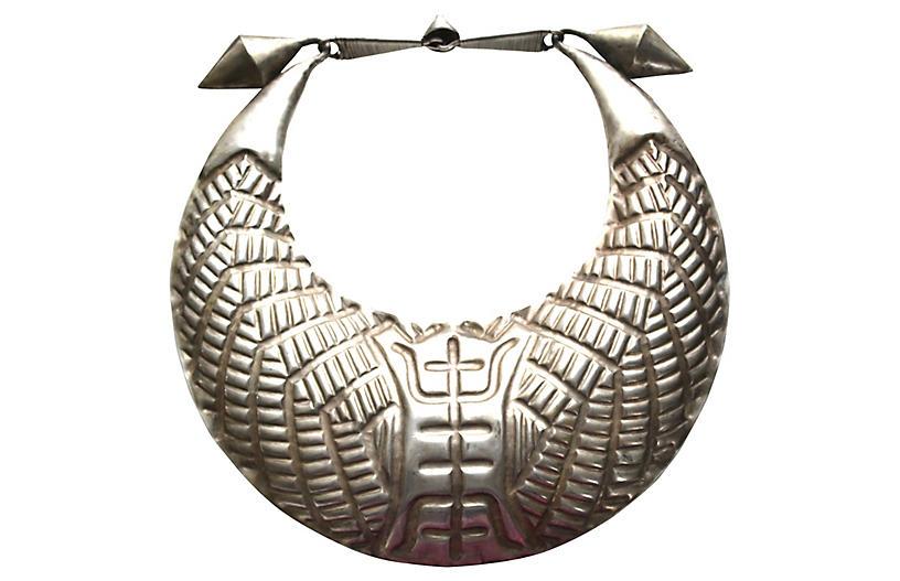 Miao Tribe Silver Torque Necklace
