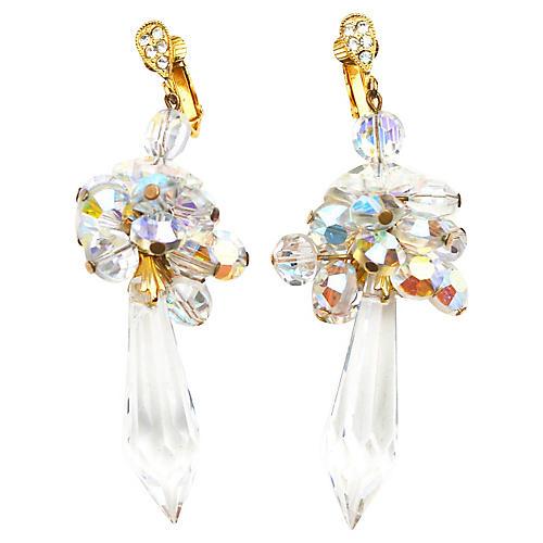 1960s Celebrity Crystal Earrings
