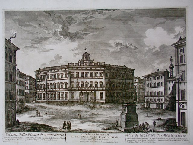 Italian Palazzo Etching, C. 1750