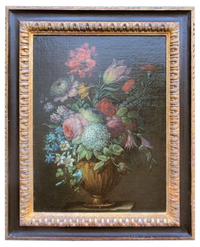 Antique Dutch Still Life Flowers