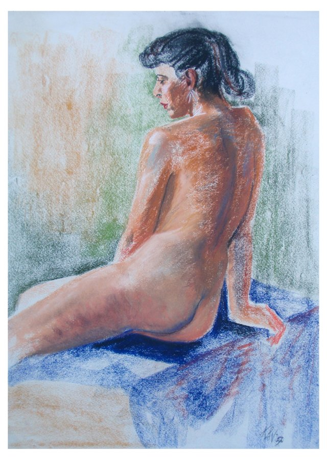 Seated Nude by Viesselman