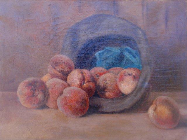Antique Still Life of Peaches
