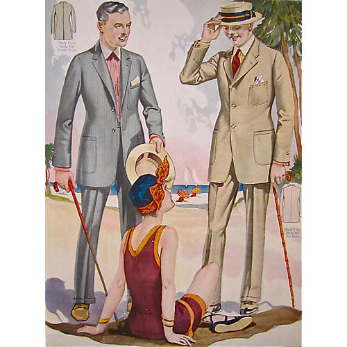 Summer 1923 Fashion Poster Taliors Shop