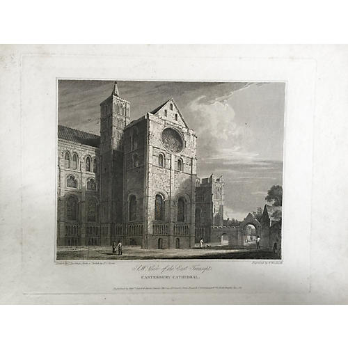 Engraving of Canterbury Cathedral, 1816