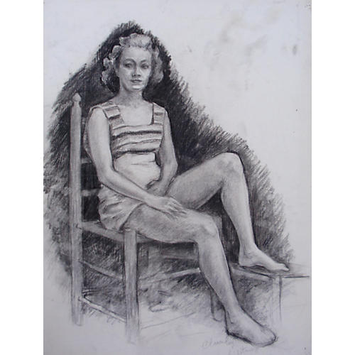 Portrait of a Seated Young Woman