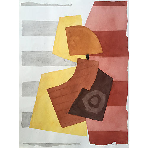 Watercolor Abstract, Roger Stokes 10/86