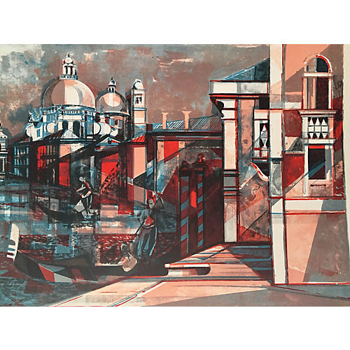Venice Lithograph by Hilaire Camille