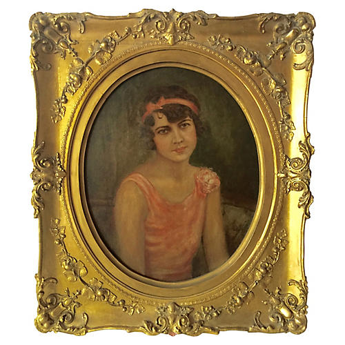 1920s Portrait Flapper Girl by Hoffman