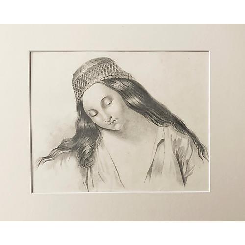 19th-C. French Portrait of Haydée