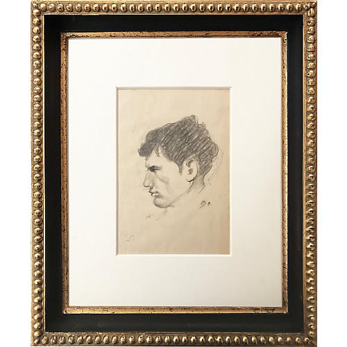 Portrait Drawing by Balthus, C.1950