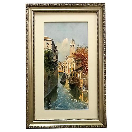 1920s Venice Canal Scene