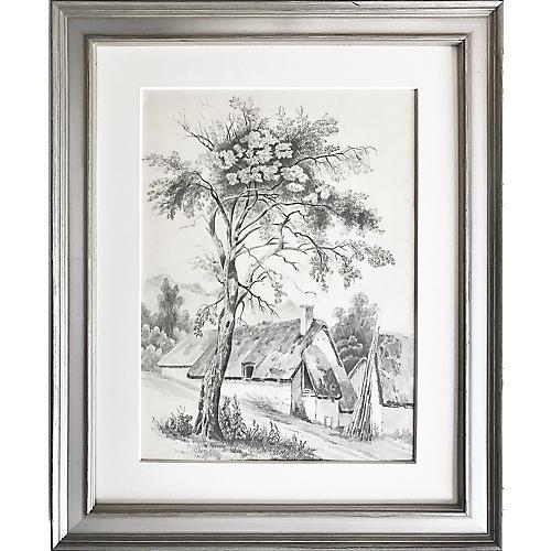 French Cottage Landscape, 1847