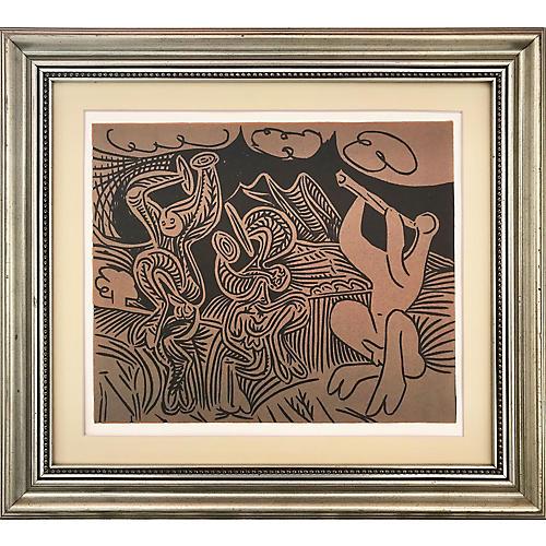 Picasso Danseurs et Musicien Linocut
