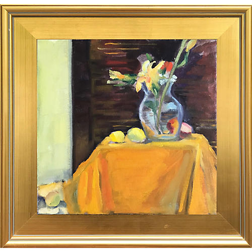 Abstract Still Life w/ Flowers