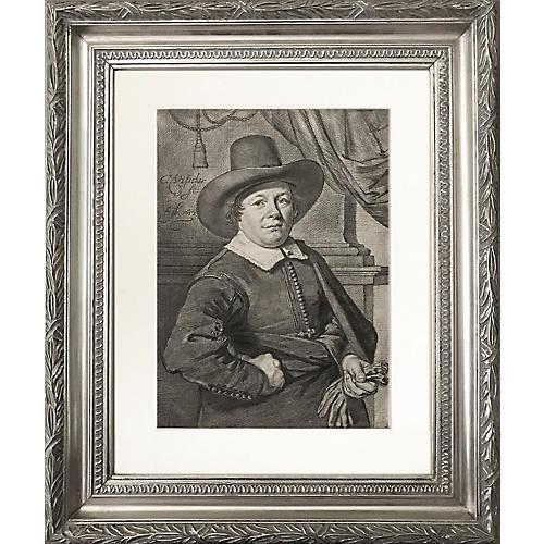 Dutch Old Master Portrait Engraving