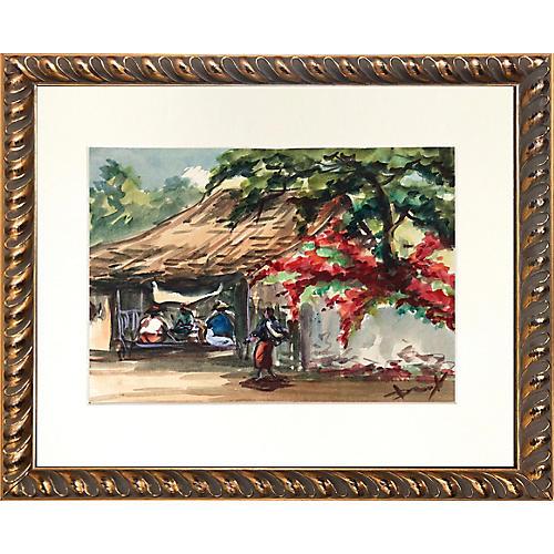 Southeast Asian Watercolor