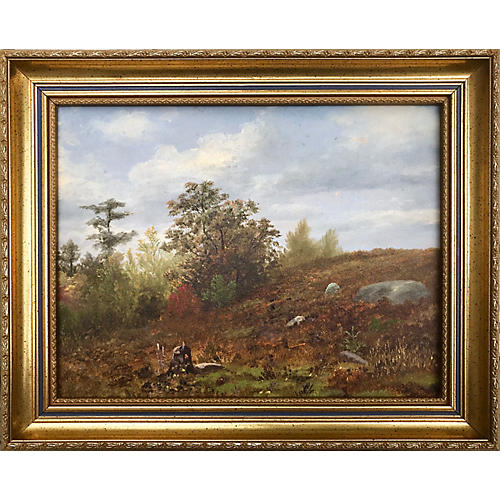 Antique Fall Landscape