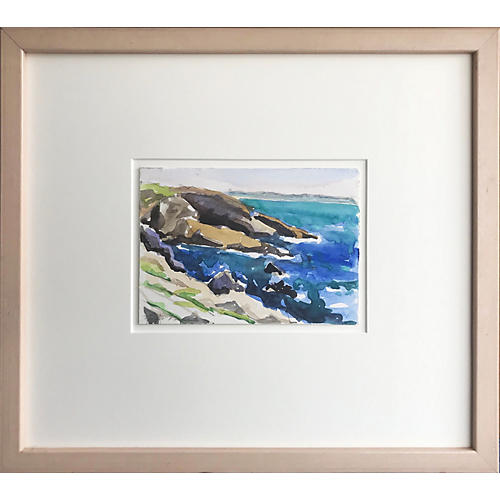 Watercolor Seascape by Taylor Kane