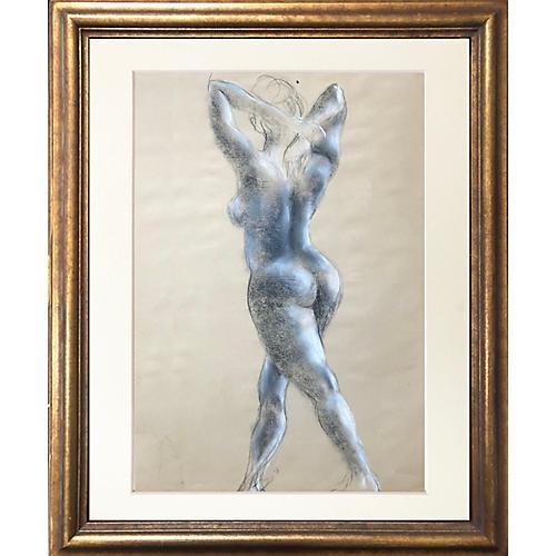 Midcentury Nude Figure Study